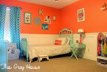 Coral & Aqua: A litte girls room