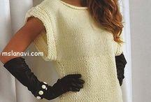 Свитера туники платья спицами