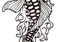 Vonalas tattoo