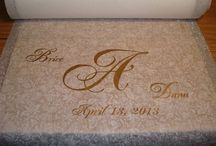 Aisle Runner Monograms / The monograms in this album are designed by The Wedding Hub.  (We do not actually cut the vinyl.)  These monograms are available in a variety of designs and in all different colors.  These are available by themselves and can be shipped to any state within the US.  When placing an order for an aisle runner we will apply the monogram.  For more information please convo. / by The Wedding Hub