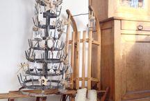 if décoré pour noël - sèche bouteille