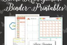 Printables and organisation