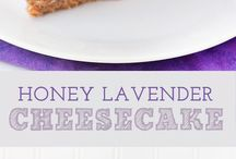 honey and lavender cheese cake