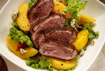 Salads with Meat! / The only thing better than a fresh salad in the summer is a fresh salad covered with meat!