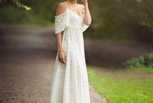 Ruffle sleeves sweertheart dress, vintage dress, A line dress, lace dress, bridal dress, bridesmaid dress, mii estilo