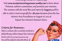Most Pinteresting Woman In Philanthropy / We have our winners! Please see the pin below and thank you so much for your support and participation to help spread the word about these Pinteresting Women and Impact San Antonio! / by Impact San Antonio