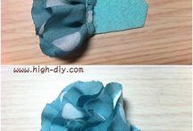 PAP - flores, laços com tecido