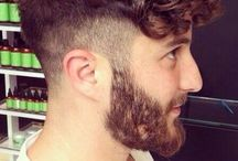 Men's curly hairstyle
