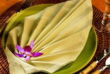 Napkin folding / by Stella Bares