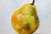 fruits oil paintings
