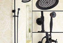 GOWE Bathroom Luxury Rain Shower Faucet Set Dual Handles Wall Mount Shower Mixer Tap