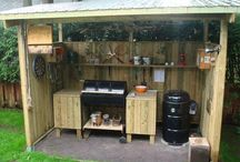 outdoor woodenkitchen