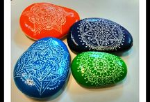 my painted pebbles / Painted stones and pebbles