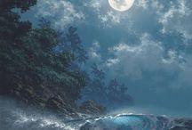 Earth, Moon and Sky