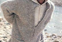 Knitting cardigan men