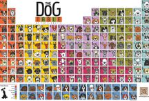 """The """"Original"""" Dog Table / The Dog Table of the EleMUTTs from ScoutDog Studios features the 170+ American Kennel Club Dog Breeds and a few of our favorite SoulMUTTs. It's eleMUTTary my dear WOOFson to find your favorite dog breed. www.thedogtable.com"""