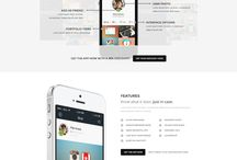 Apps landing / Apps landing pages design