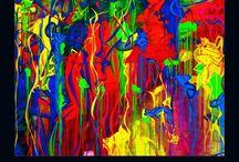 Abstraction multicolore