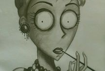 Tim Burton Drawing