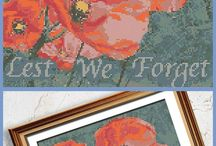 Lest We Forget Collection - Military Cross Stitch / Your glimpse into military service and sacrifice in the Lest We Forget cross stitch patterns.