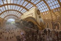 Train Station - Steampunk/ Victorian Style