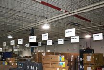 Visual Workplace / Clik-Clik Magnetic Hanging System supports the visual workplace. Hang signs safely, quickly, easily from drop or open-beam ceilings without climbing a ladder.