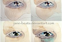 Watercolor eyes