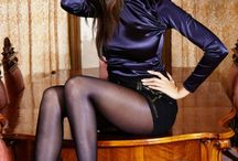 bluse & stocking + silk☆satin