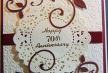 Cards: Anniversary and Wedding / A collection of wedding anniversary cards.  Remember that wording can be altered so look at the basic design and fold. Then make necessary changes from there to create your masterpiece!