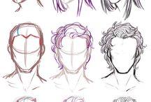 Men hair drawing