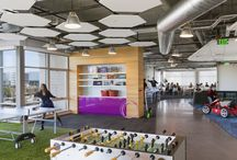 """GoDaddy / Internet superpower GoDaddy works hard to make your internet dreams easy. GCI crafted a workplace environment that embodied the """"work hard, play hard"""" attitude of GoDaddy's company culture."""