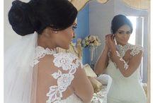 Bride Zeinab / Halterneck French Lace wedding gown