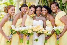 Yellow Wedding Theme / Yellow ideas and themes for wedding venue decorations, bridal accessories and stationery