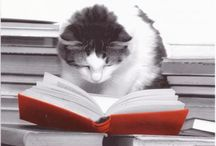 Books, reading animals