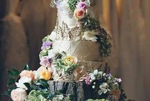 Forest wedding cakes