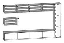 """Проект """"на ул. Куусинена"""". Эскизы мебели для гостиной (3D эскизы) / Заказчик закончил ремонт.... и захотел мебель в гостиную. Чтобы """"все строго и спокойно"""" и была указана стена длиной 4,6 метра.  Итог: Размеры 3600 х 2200 мм. глубина - 400 мм. Все фасады и столешница - массив дуба (20 мм). Конструктив - березовая фанера (20 мм). Весь конструктив выбелен морилкой до молочно-белого цвета. Фасады и столешница обработаны пропиткой, сохранен натуральный цвет дуба и слегка шероховатая поверхность. Все двери и ящики на доводчиках с открытием по нажатию"""
