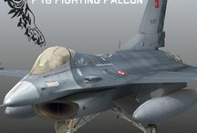 F-16 Fighting Falcon / Turkish Air Force General Dynamics F-16 Fighting Falcon 181.Squadron Low poly 3d model by Omegavision