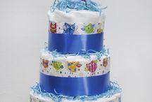 Torte di Pannolini / Creazioni di originali torte di pannolini! Il regalo utile per la nascita e il battesimo di un bimbo!
