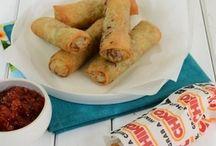 dim sim , spring rolls , dumping, Asian finger food