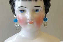 Porcelánová hlava - panenka