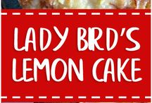 Lady bird lemon cake