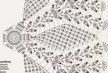 horgolt terítő minták
