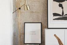 Decor ideas / styling / Styling, ceramics, plants, flowers, natural materials, scandinavian, minimal
