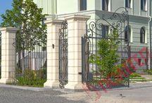 Столбы из бетона и заборы / Фото красивых столбов из бетона полусухого прессования и красивых заборов, а также этапы производства.