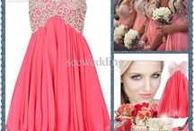 bridesmaids dresses / wedding party dresses