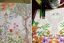 Adult colouring books / Colours, mindfulness