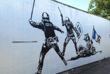 """Art de rue - Street Art / Je hais les tags, les graffitis, ces """"arts"""" rupestres des temps modernes que je considère comme de la dégradation pure et simple qui enlaidissent nos villes et nos infrastructures publiques et qui osent se faire passer pour de l'art. Mais tout n'est pas à jeter dans le street art. Certaines réalisations méritent largement d'être qualifiées d'œuvres d'art et d'être valorisées par opposition aux graffitis dégueulasse que l'on voit partout. Compilation de mes coups de cœur."""
