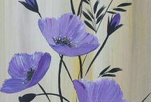 pictură flori