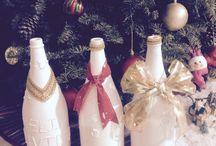 Reciclaje botellas navidad