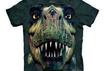 T-shirts dinosaures / Images et photo de tee-shirts avec des motif imprimés dinosaures : T-rex, etc.. Vêtement tee shirt pour homme et enfant
